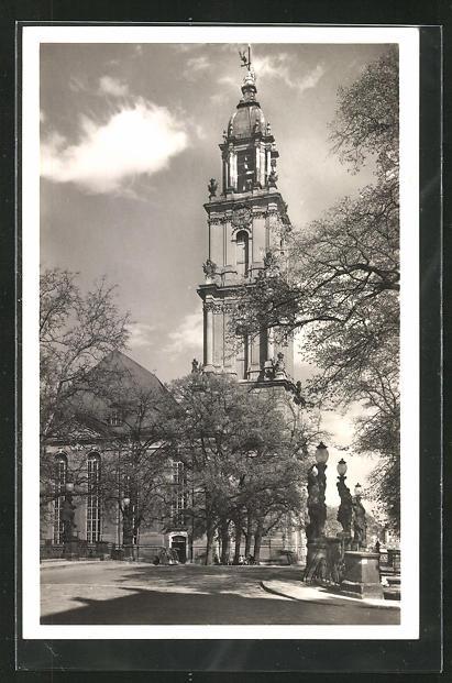 AK Potsdam, Garnisonkirche von der Breiten Brücke aus