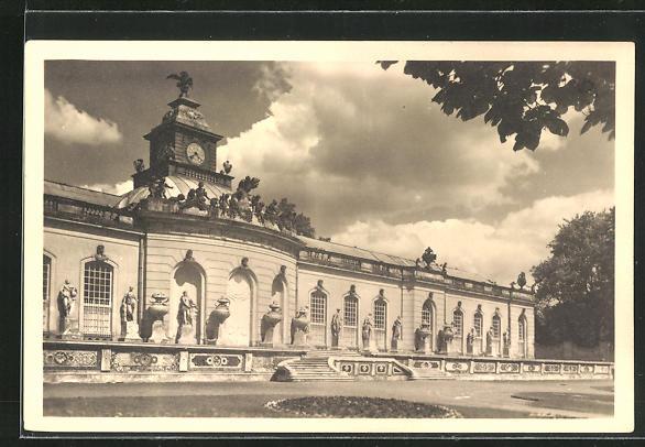 AK Potsdam, Bildergalerie in Schloss Sanssouci