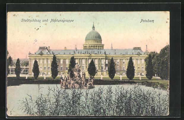 AK Potsdam, Stadtschloss und Neptunsgruppe