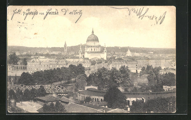 AK Potsdam, Gesamtansicht mit Stadtschloss