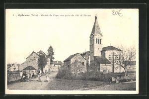AK Optevoz, Entrée du Pays, vue prise du coté de Siccieu, l`Eglise