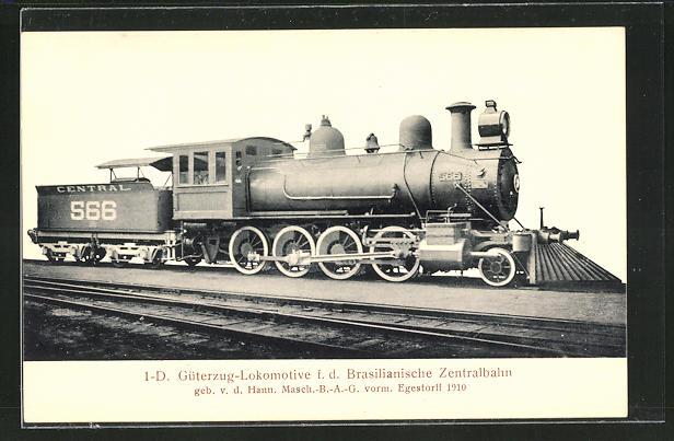AK 1-D Güterzug-Lokomotive für die Brasilianische Zentralbahn