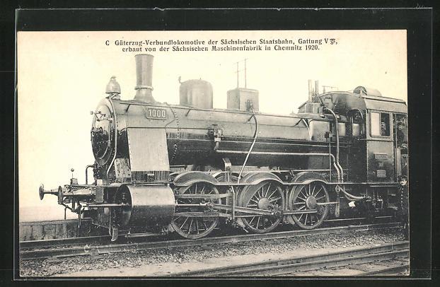 AK C-Güterzug-Verbundlokomotive der Kgl. Sächs. Staatsbahn, Gattung V