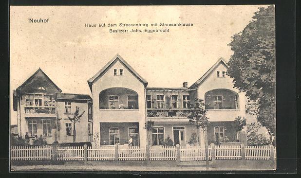 AK Neuhof, Hotel auf dem Streesenberg mit Streesenklause
