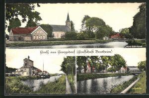 AK Georgsdorf-Bentheim, Nord-Süd-Kanal, Torfwerk, Ortspartie