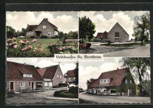 AK Veldhausen, Strassenpartien mit Geschäft und Wohnhäusern