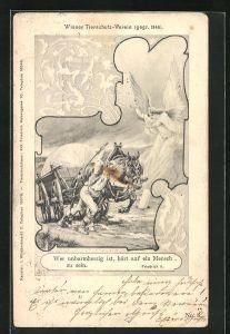 AK Wer unbarmherzig ist, hört auf ein Mensch zu sein, Wiener Tierschutz-Verein von 1846