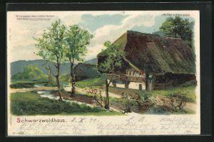 Lithographie Schweizerhaus, Halt gegen das Licht