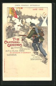AK Geneve, Tir cantonal genervois IIIe centenaire de l`Escalade