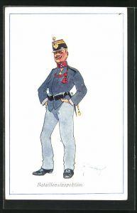 Künstler-AK Fritz Schönpflug: Bataillonsinspektion, K.u.K. Soldat