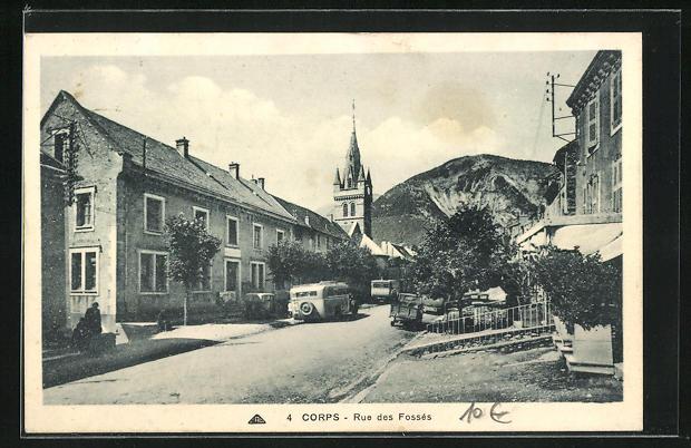 AK Corps, Rue des Fosses, Strassenpartie