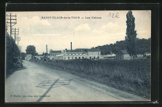 AK Saint-Clair-de-la-Tour, Vue sur les Usines