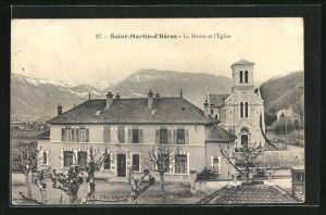 AK Saint-Martin-d'Heres, La Mairie et l'Eglise