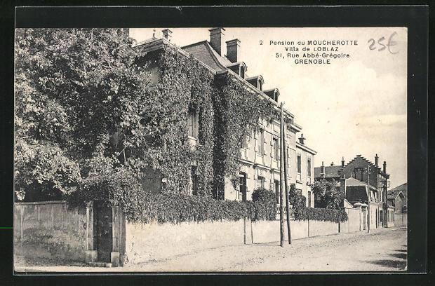 AK Grenoble, Pension du Moucherotte, Villa de Loblaz, 51 Rue Abbe-Gregoire