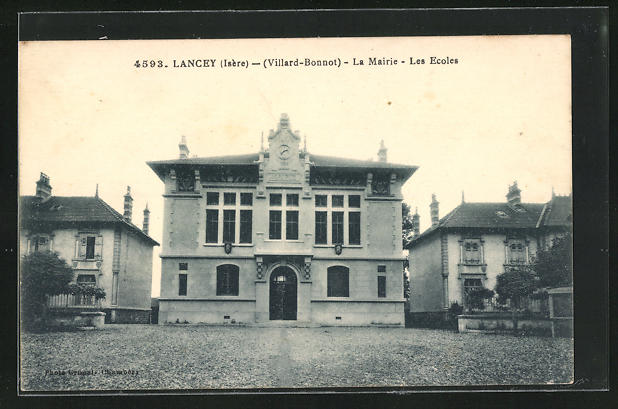 AK Lancey, La Mairie & les Ecoles