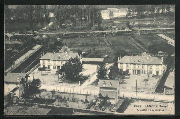 AK Lancey, Quartier des Ecoles
