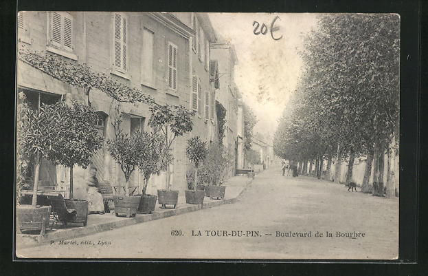 AK La Tour-du-Pin, Boulevard de la Bourbre