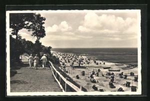 AK Rewahl / Ostseebad, An der Strandpromenade