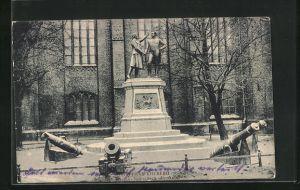 AK Kolberg, Gneisenau-Nettelbeck-Denkmal