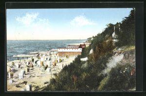 AK Rewahl / Ostseebad, Partie am Strande