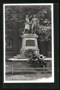 AK Kolberg, Denkmal Gneisenau und Nettelbeck
