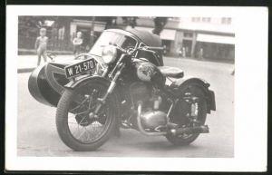 Foto-AK Puch-Motorrad mit Beiwagen