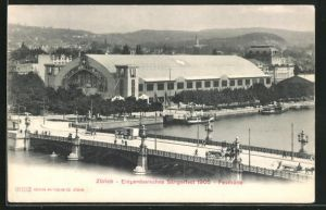AK Zürich, Eidgen. Sängerfest 1905, Festhütte