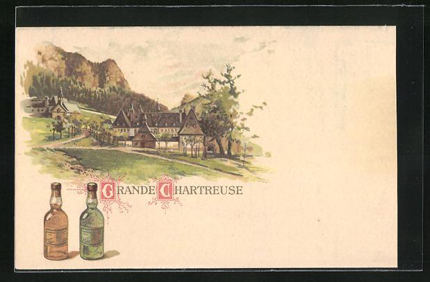 AK Grande Chartreuse, Reklame für Wein