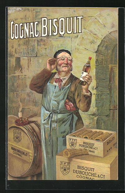 AK Cognac Biscuit, Reklame, Schnapsbrenner