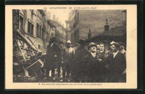 AK Lyon-Saint-Jean, La Catastrophe, Les autorités municipales sur les lieux de la catastrophe