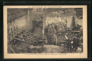 AK Lyon-Saint-Jean, La Catastrophe, La bas du Chemin-Neuf