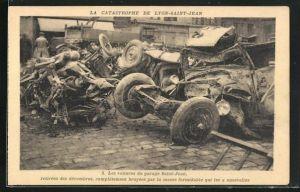 AK Lyon-Saint-Jean, La Catastrophe, Les voitures du garage Saint-Jean