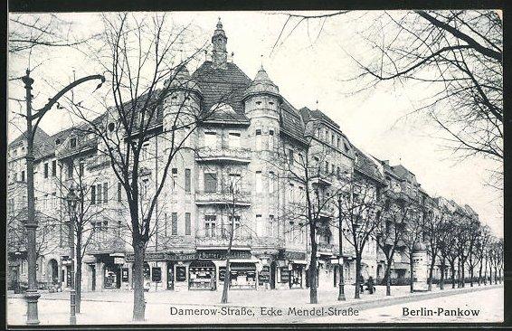 AK Berlin-Pankow, Damerowstrasse Ecke Mendelstrasse