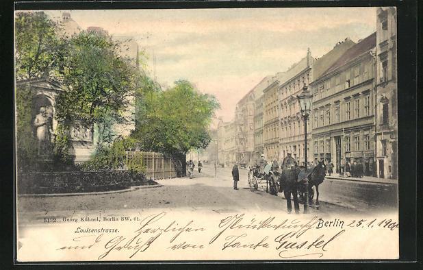 AK Berlin, Blick in die Louisenstrasse