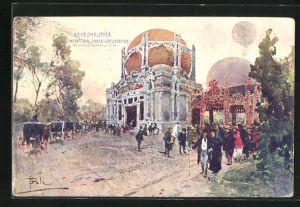 AK Milano, Esposizione di Milano 1906, Aeronautica, Ingresso al Parco Areostatico