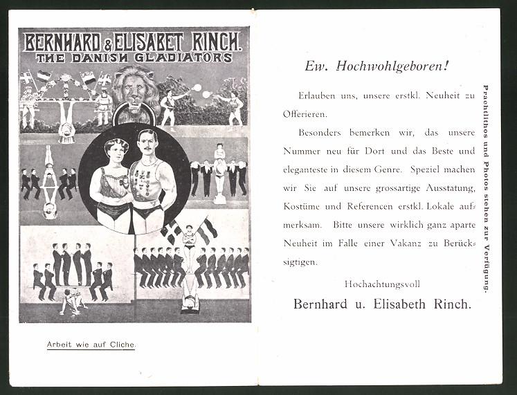 Klapp-AK Akrobaten-Duo Bernhard & Elisabet Rinch, The Danish Gladiators