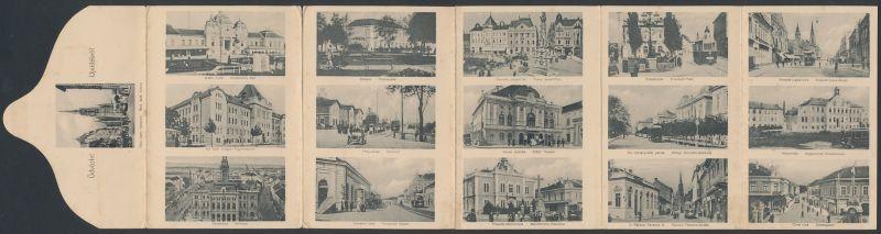 Klapp-AK Ujvidek, Artesisches Bad, Temeriner Gasse, Allgemeines Krankenhaus 0