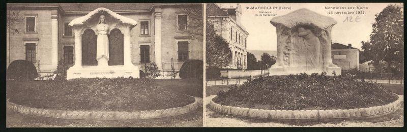 Klapp-AK St-Marcellin, Monument aux Morts, Kriegerdenkmal 0