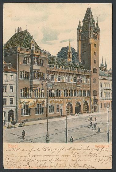 Relief-AK Basel, Ansicht vom Rathaus 0