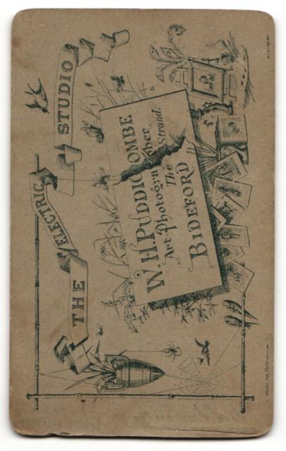 Fotografie W. H. Puddicombe, Bideford, Junge in karierter Krawatte in Dreiteiler 1