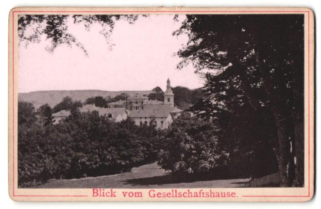 Fotografie Fotograf unbekannt, Ansicht Heringsdorf, Ortschat vom Gesellschaftshaus gesehen