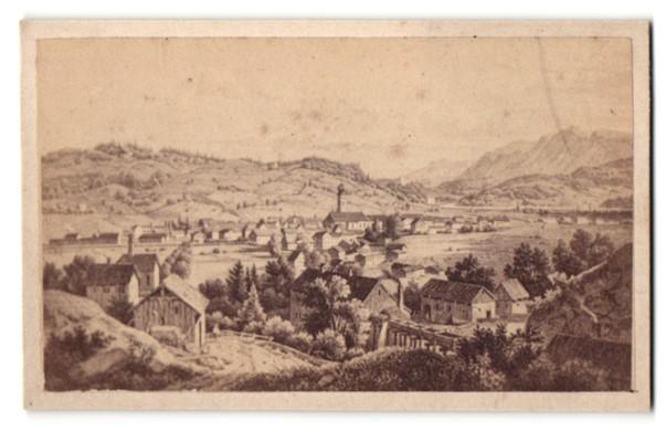Fotografie Fotograf unbekannt, Ansicht Immenstadt, Panorama der Ortschaft