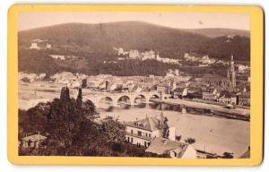 Fotografie Fotograf unbekannt, Ansicht Heidelberg / Neckar, Panorama der Stadt