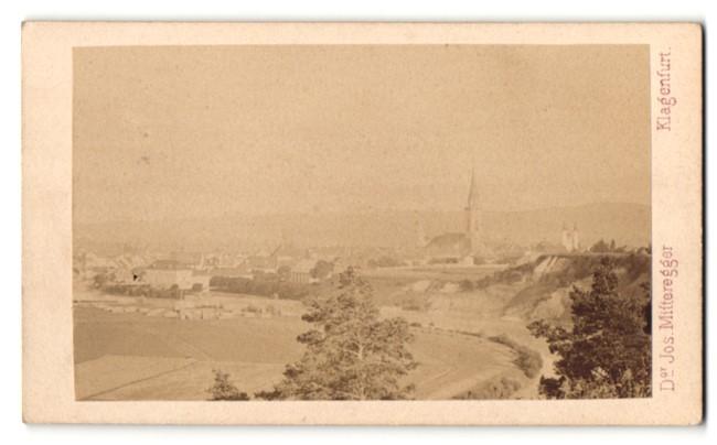 Fotografie Dr. Josef Mitteregger, Klagenfurt, Ansicht Villach, Gesamtansicht mit Kirche