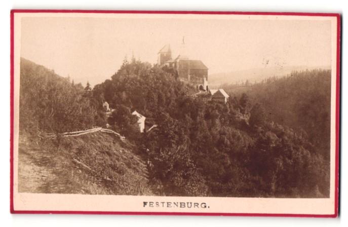 Fotografie A. Helm, Wien, Ansicht Festenburg, Blick zum Schloss 0