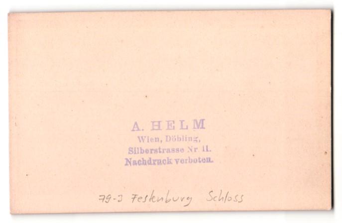 Fotografie A. Helm, Wien, Ansicht Festenburg, Blick zum Schloss 1