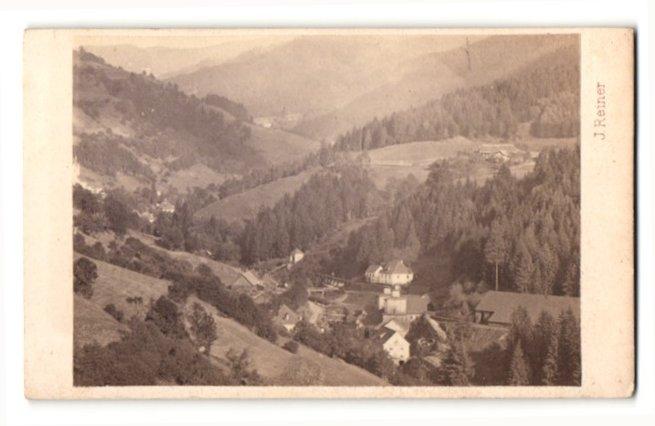 Fotografie J. Reiner, Klagenfurt, Ansicht Sölling, Ortschaft in idyllischer Landschaft