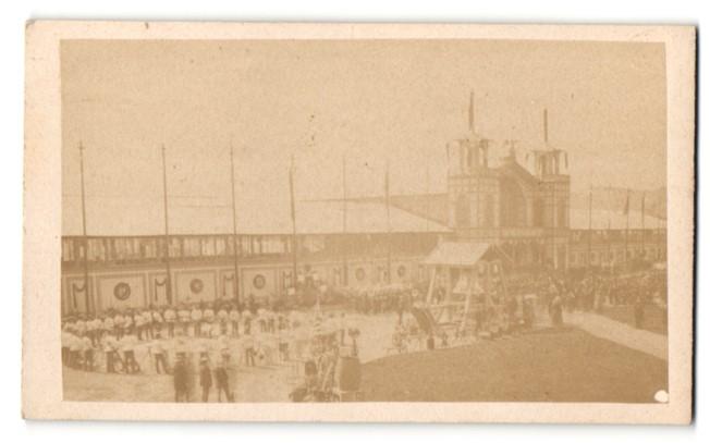 Fotografie S. Volkmann, Graz, Ansicht Graz, Landwirtschafts & Industrie-Ausstellung 1870, Ausstellungs-Gebäude 0