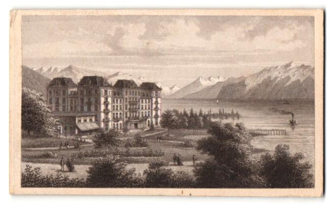 Fotografie Alfred Hirschy, Ansicht Vevey, Grand Hotel Vevey 0
