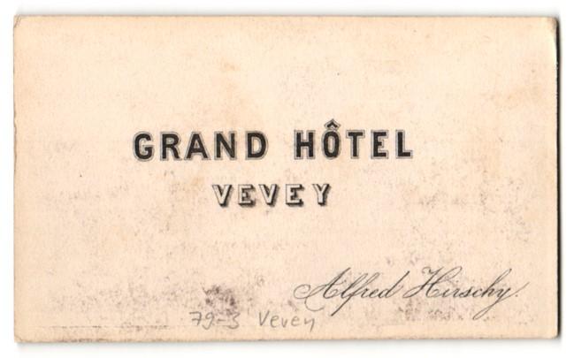 Fotografie Alfred Hirschy, Ansicht Vevey, Grand Hotel Vevey 1